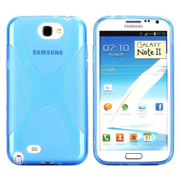 eXplorer Transparent (Blå) Samsung Galaxy Note 2 Skal