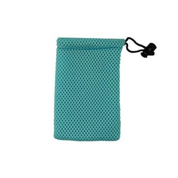 Färgad Tygpåse Med Svart Snöre för SmartPhones (Ljusblå)