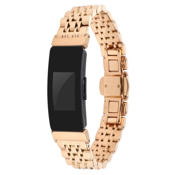 Fitbit Inspire / Inspire HR metal buckle watch band - Rose G