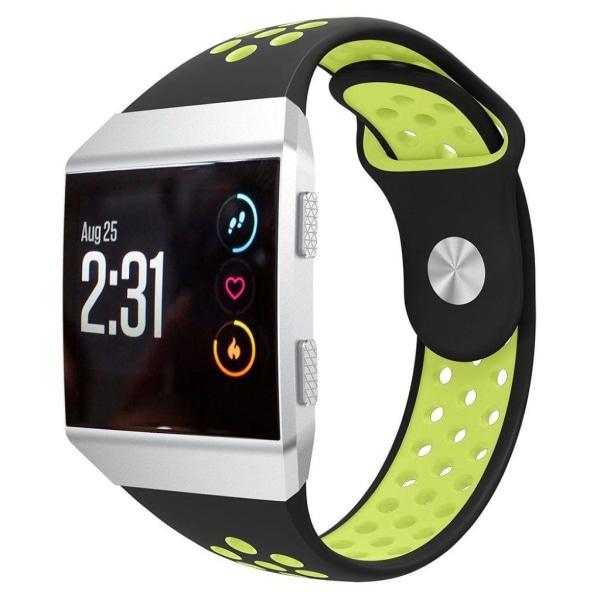 Fitbit Ionic bi-color silicone watch band - Black / Flouresc