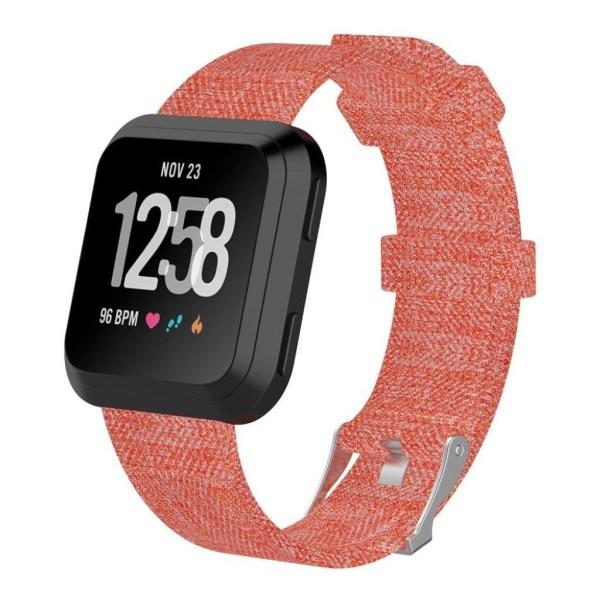 Fitbit Versa klockarmband canvas metall spänne - Orange