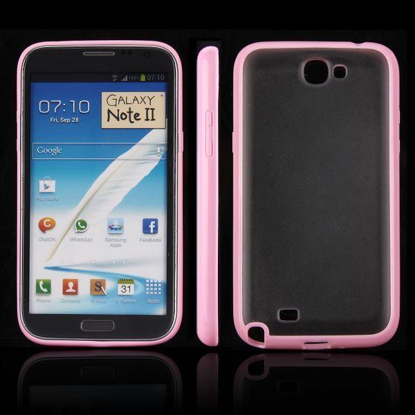 Frosty Ice Back (Ljusrosa) Samsung Galaxy Note 2 Skal