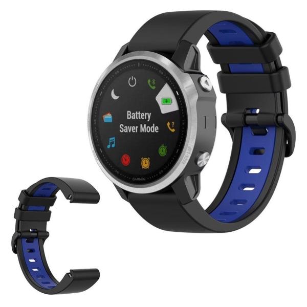 Garmin Fenix 6S / 5S bi-color silicone watch band - Black /