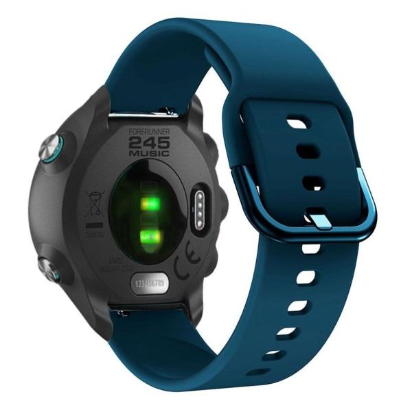 Garmin Forerunner 245 simple silicone watch band - Dark Blue