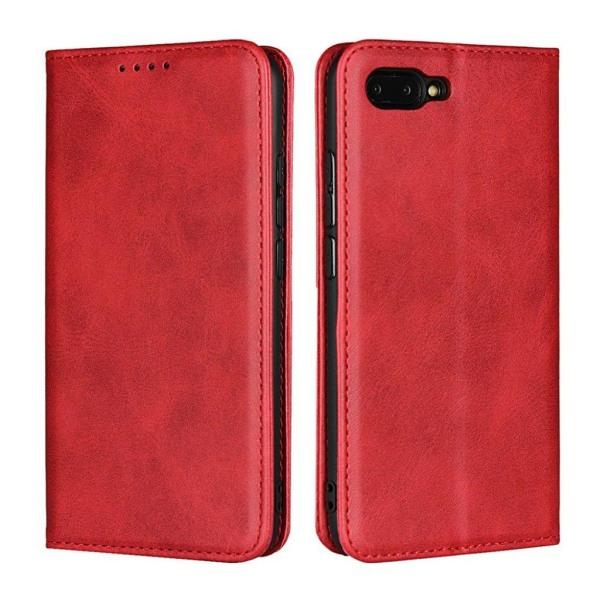 Huawei Honor 10 mobilfodral PU läder TPU plånbok stående - R