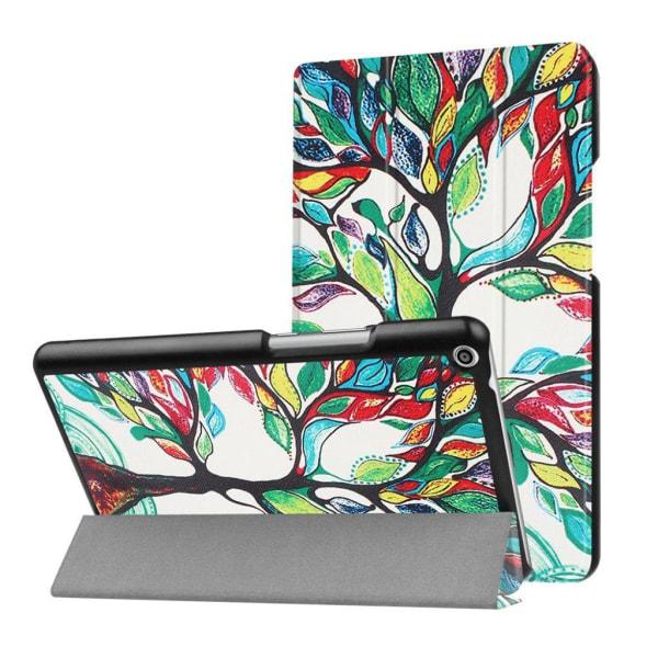 Huawei MediaPad T3 8.0 Läder fodral med unikt motiv - Träd