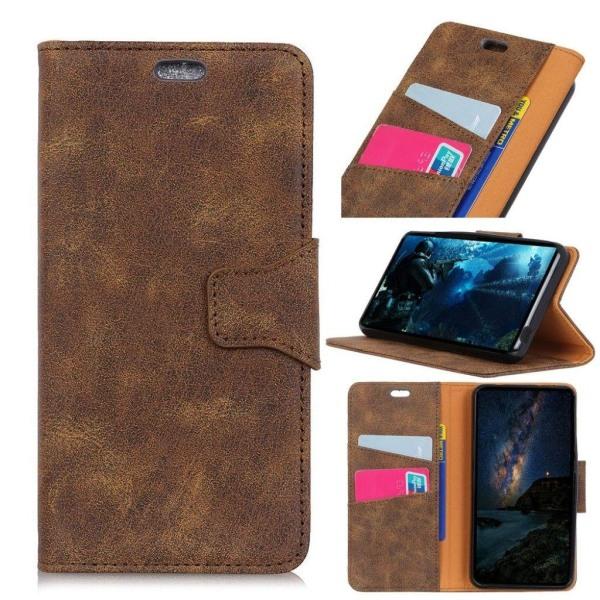 Huawei P Smart-Enjoy 7S mobilfodral konstläder silikon plånb