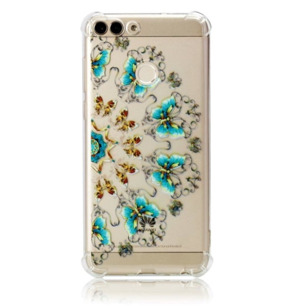 Huawei P Smart - Huawei Enjoy 7S mobilskal silikon tryckmöns