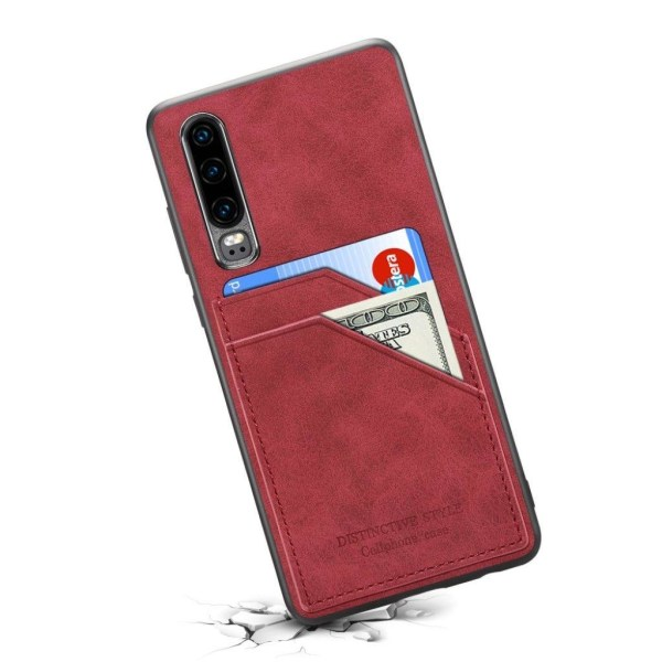 Huawei P30 leather coated case - Red