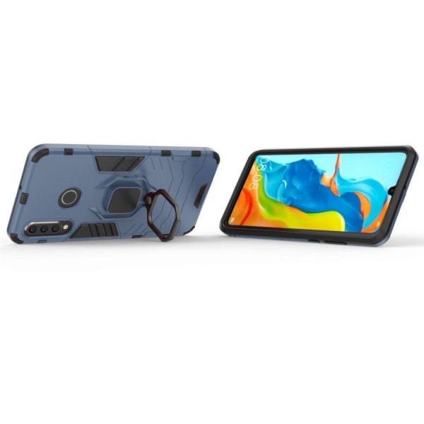 Huawei P30 Lite Finger ring hybrid fodral - Mörkblå
