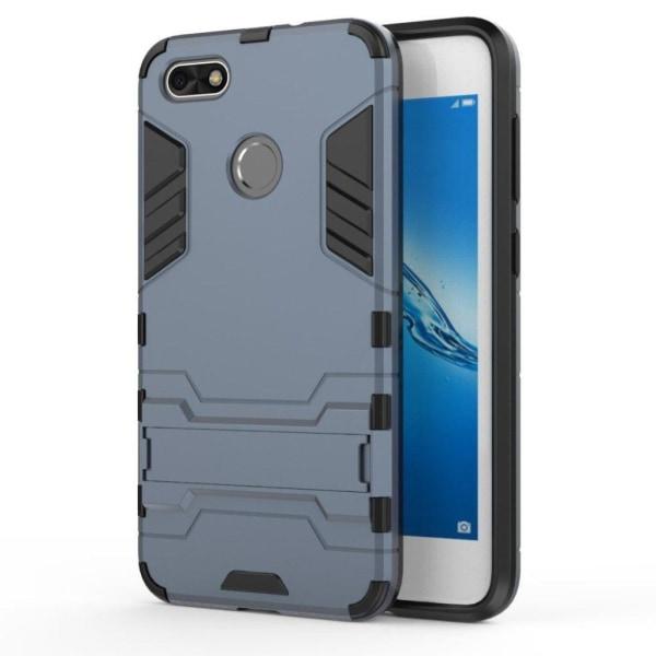 Huawei P9 Lite Mini Hybird skal med kickstand - Mörk blå