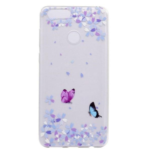 Huawei P9 Lite Mini Mjukt och flexibelt skal - Fjärilar
