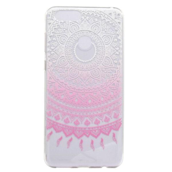 Huawei P9 Lite Mini Mjukt och flexibelt skal - Rosa mandala