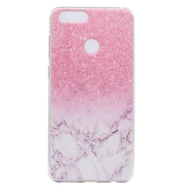 Huawei P9 Lite Mini Mjukt och flexibelt skal - Rosa marmor