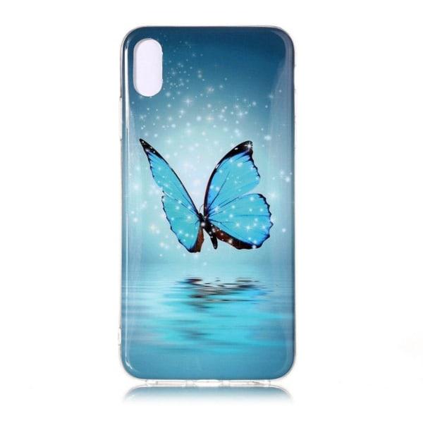 iPhone 9 Plus mobilskal silikon tryckmönster självlysande -