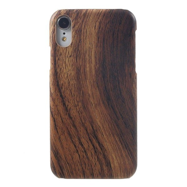 iPhone Xr leather coated case -  Wood Texture