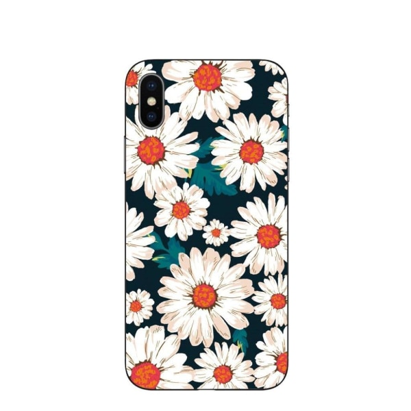 iPhone XS pattern printing soft case - White Daisy