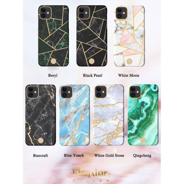 Kingxbar iPhone 11 Marble Case - Black Pattern