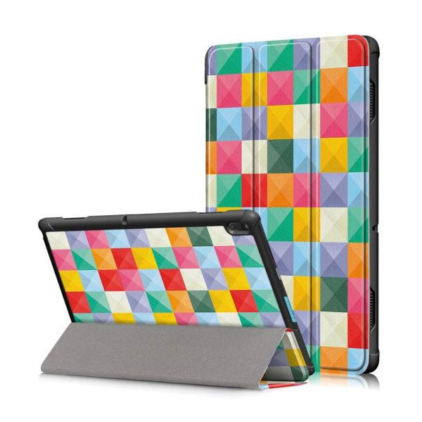 Lenovo Tab E10 mönstrat plånboksfodral i läder - färgglada t
