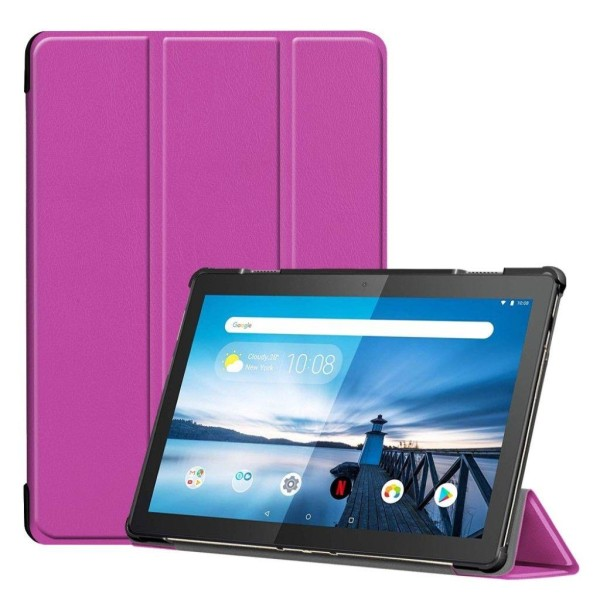 Lenovo Tab M10 tri-fold leather case - purple
