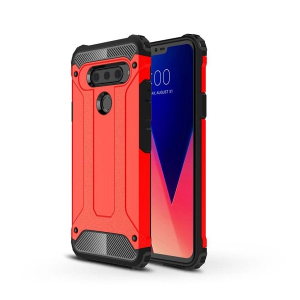 LG V40 ThinQ robust hybridskal - röd