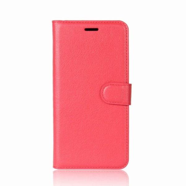 LITCHI Nokia 1 mobilskal stående i PU läder plånbok korthåll