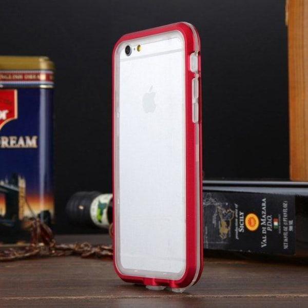 Luphie (Transparent / Röd) iPhone 6 Metall & TPU Bumper