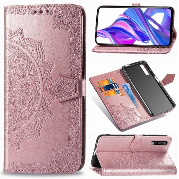 Mandala Honor 9X Pro Flip case - Pink