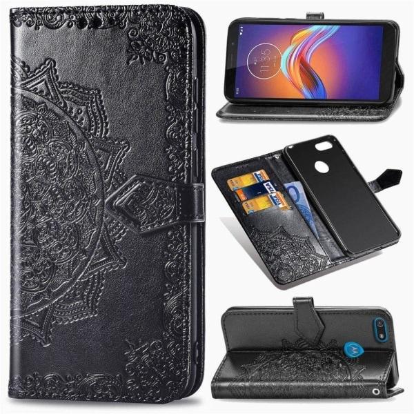 Mandala Motorola Moto E6 Play Flip case - Black