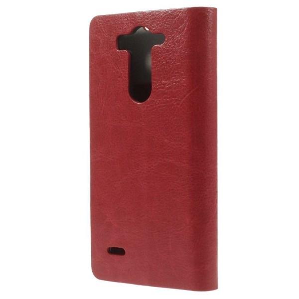 Mankell (Röd) LG G3 S Läder Flip-Fodral