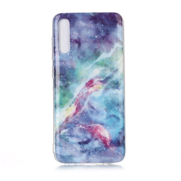Marble Samsung Galaxy A70 case - Blue and Pink Clouds