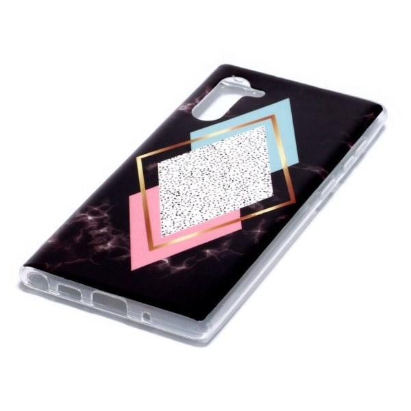 Marble Samsung Galaxy Note 10 skal - Blå Diamant / Rosa Marm