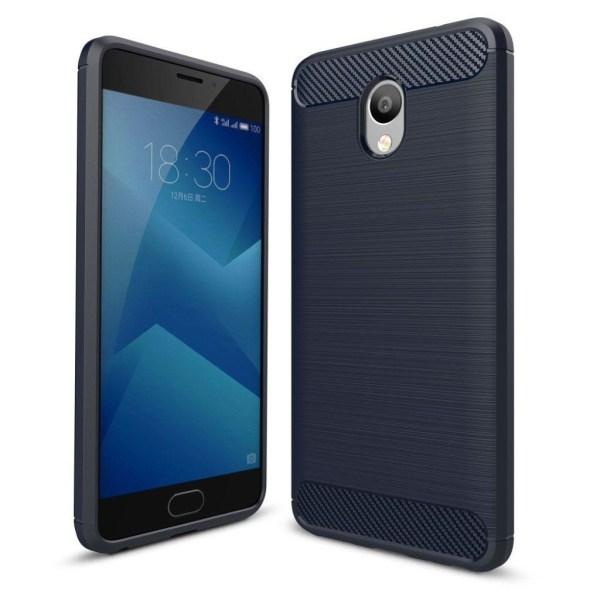 Meizu M5 Note Snyggt skal med karbon fiber stil - Blå