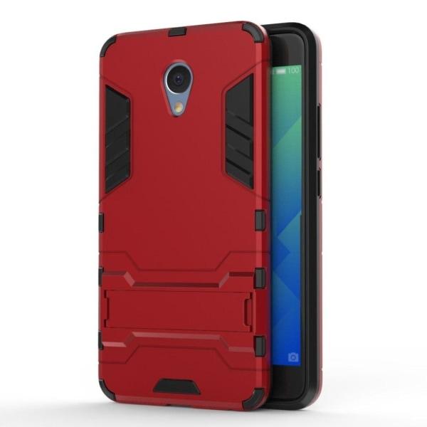 Meizu M5 Note Stilrent hybird skal med kickstand - Röd