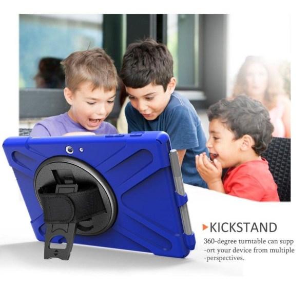 Microsoft Surface Go 10 X-Shape snurr kombo fodral - Blå