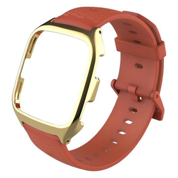 MIJOBS Fitbit Versa honeycomb metal watch band - Orange