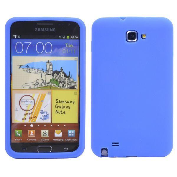 Mjukskal (Blå) Samsung Galaxy Note 2 Silikonskal