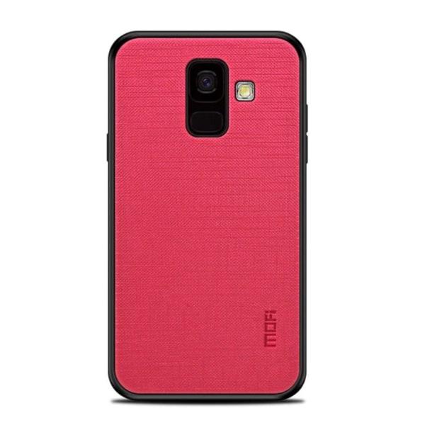MOFI Samsung Galaxy A6 (2018) mobilskal TPU plast duk - Röd
