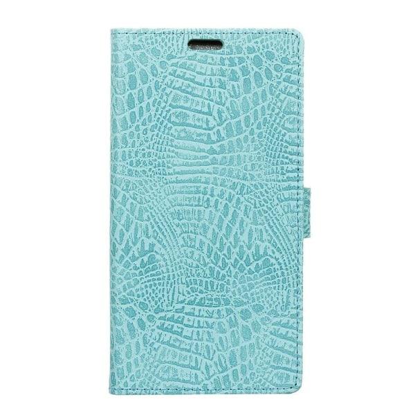 Motorola Moto G5S Fodral med krokodil skinn - Turkos