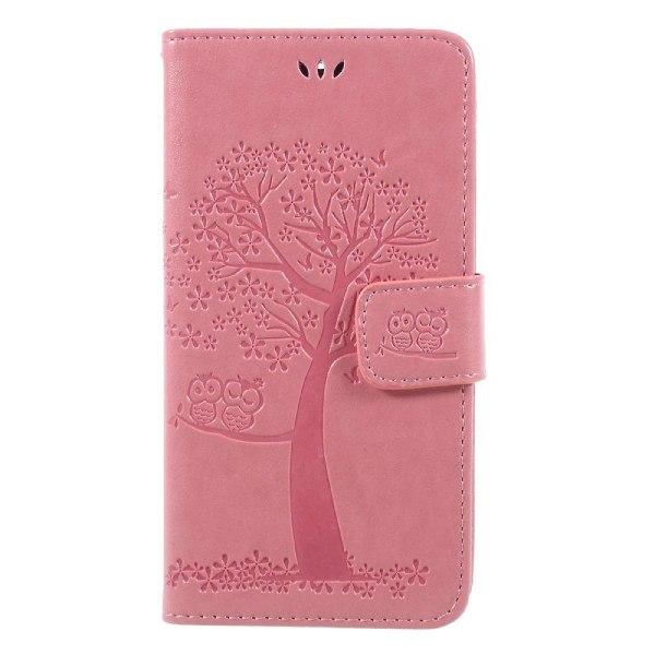 Motorola Moto G5S Fodral med unikt träd motiv - Ljus rosa