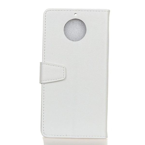 Motorola Moto G5S Läder fodral med plånbok - Vit