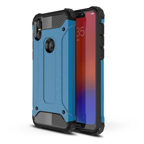 Motorola One armor guard hybrid case - Baby Blue
