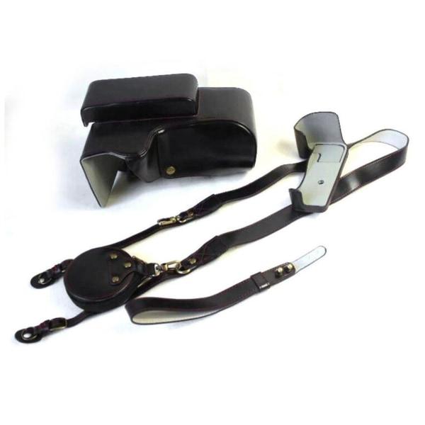 Nikon P1000 durable leather case - Black