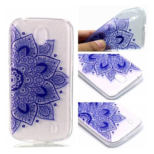 Nokia 1 mobilskal skyddande TPU material mönster - Lila mand