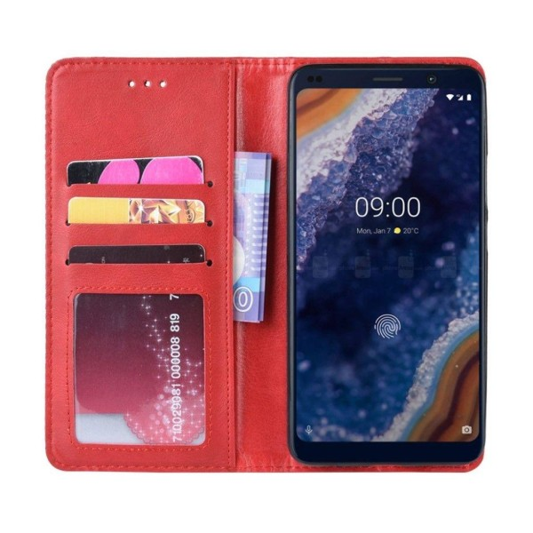 Nokia 9 PureView vintage leather case - Red