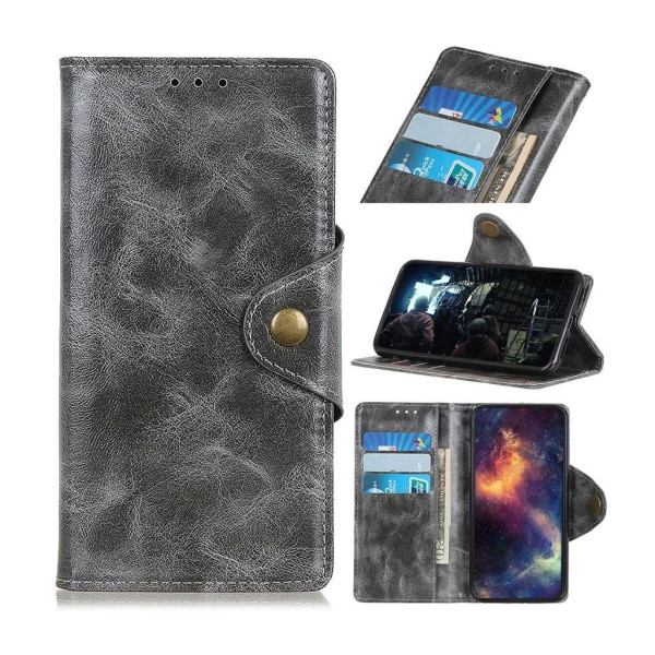 OnePlus 7 Pro leather wallet case - Grey