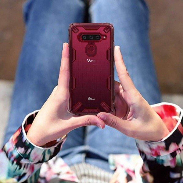 Ringke FUSION X for LG V40 - Ruby Red