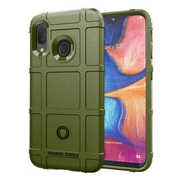Rugged Shield Samsung Galaxy A20e skal - Grön