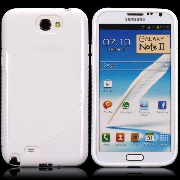 S-Line Solid (Vit) Samsung Galaxy Note 2 Skal