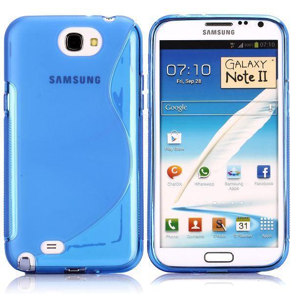 S-Line Transparent (Blå) Samsung Galaxy Note 2 Skal